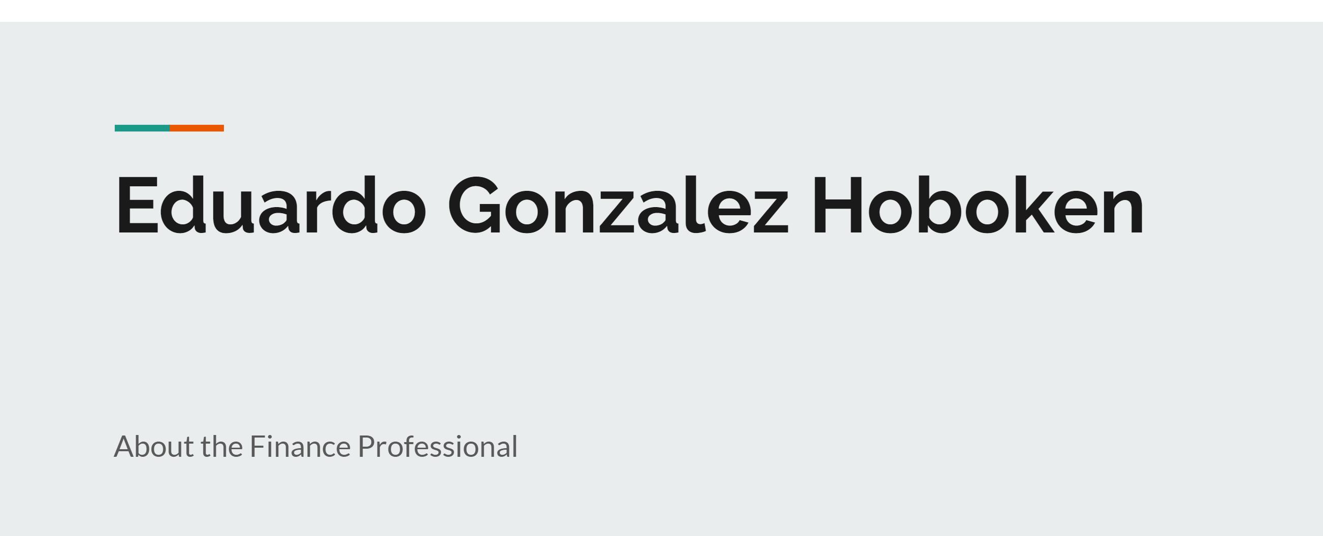 Hoboken Portfolio Manager Eduardo Gonzalez